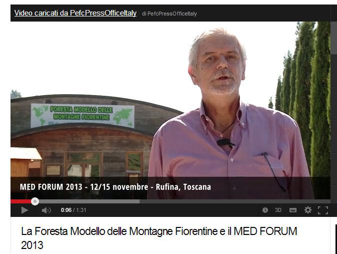 La Foresta Modello delle Montagne Fiorentine e il MED FORUM 2013