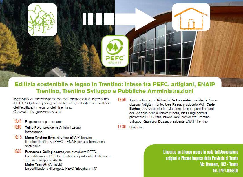 Incontro a Trento su Edilizia sostenibile e legno in Trentino il 15 gennaio