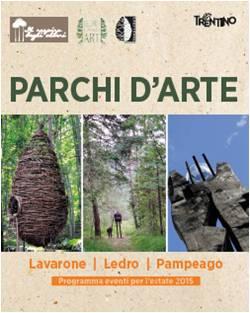 """Il trittico dei """"Parchi d'arte"""": turismo sostenibile nei boschi trentini PEFC"""