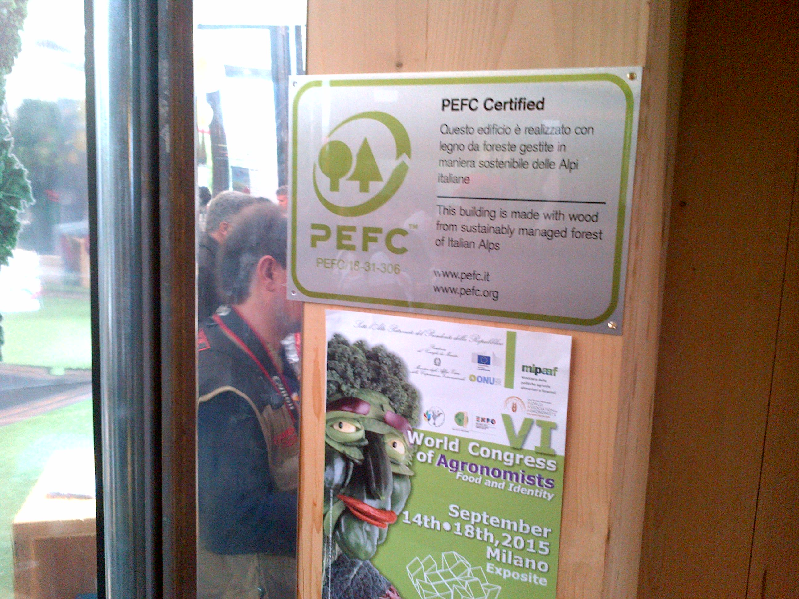 "Legno PEFC premiato per il ""Towards a Sustainable Expo"" del MinAmbiente"